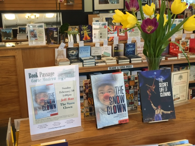 The Snow Clown at the book store