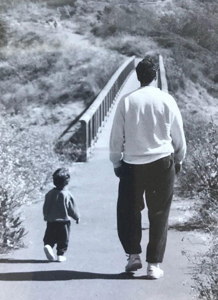 Jeff walking with Micah