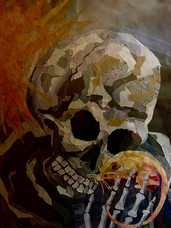Life Death Circus with skull